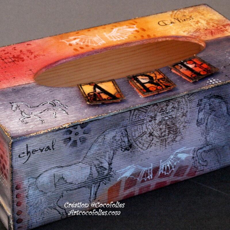 Boîte à mouchoirs thème Léonard de Vinci